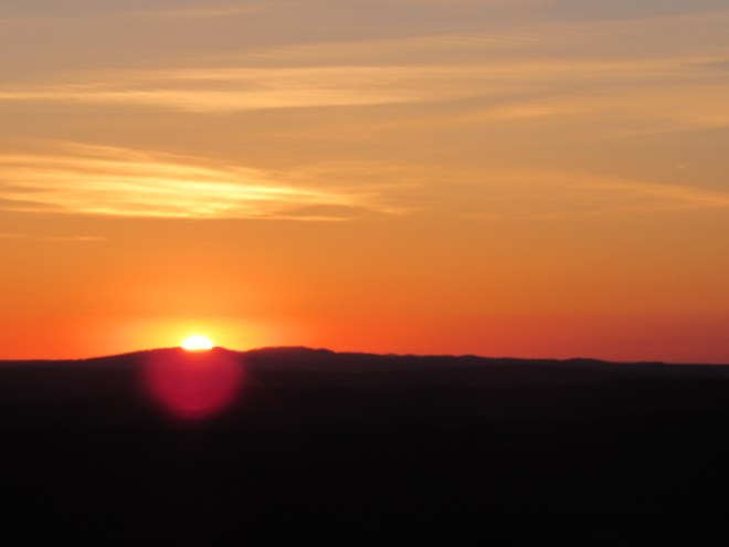 The sun sets on Black Hills, SD Expedition No. 170.