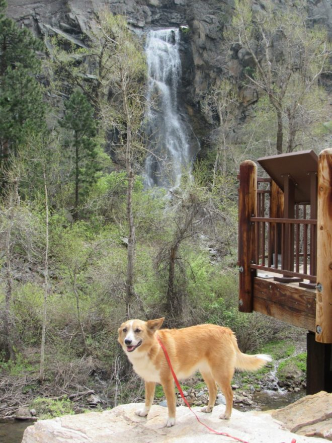 Lupe visits Bridal Veil Falls in Spearfish Canyon.