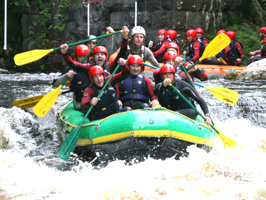 White Water Rafting in South Wales with Adventures Wales Activity Centre