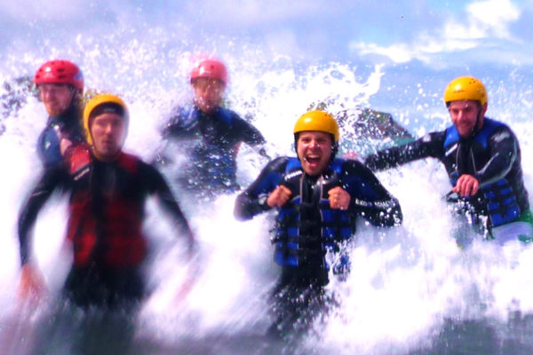 Coasteering in Cardiff, Wales