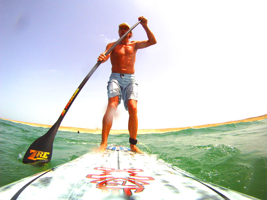 Stand up paddle boarding at Adventures Wales