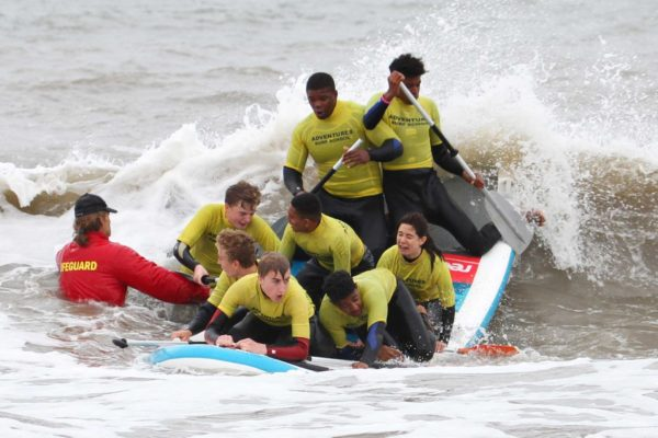 SUP/ Surfing Team Building and Stag Party in Cardiff, Swansea and Bristol, team rafting in South Wales, Team rafting in Cardiff, Sea rafting stag package, Stag party rafting