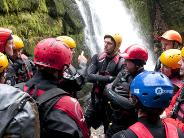 Corporate Gorge Walking Team Building Day in Wales