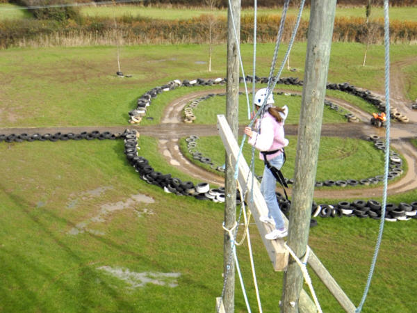 High Ropes Course near Cardiff