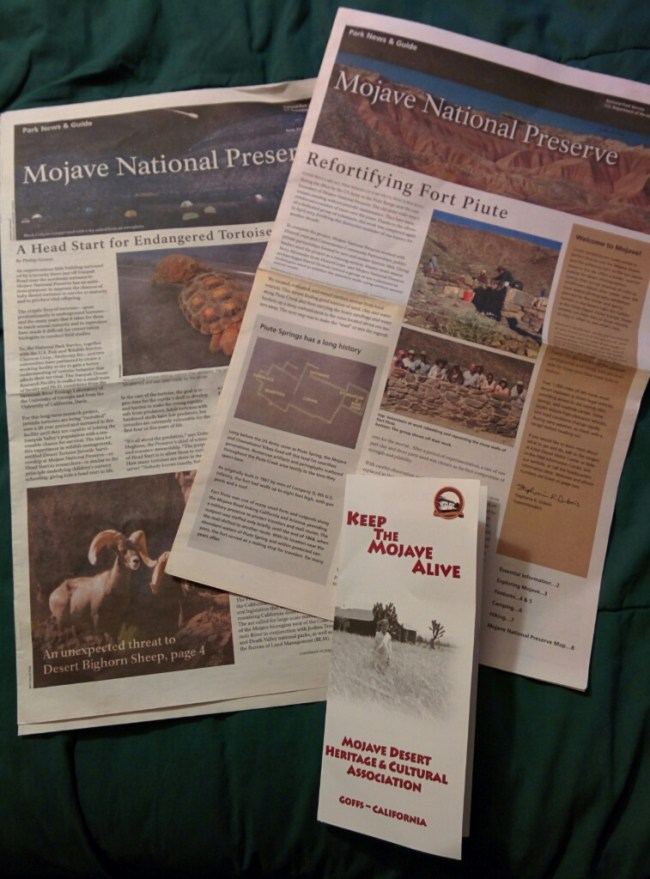 The Mojave National Preserve newspaper