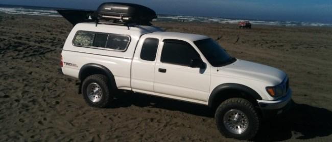 Truck on the beach