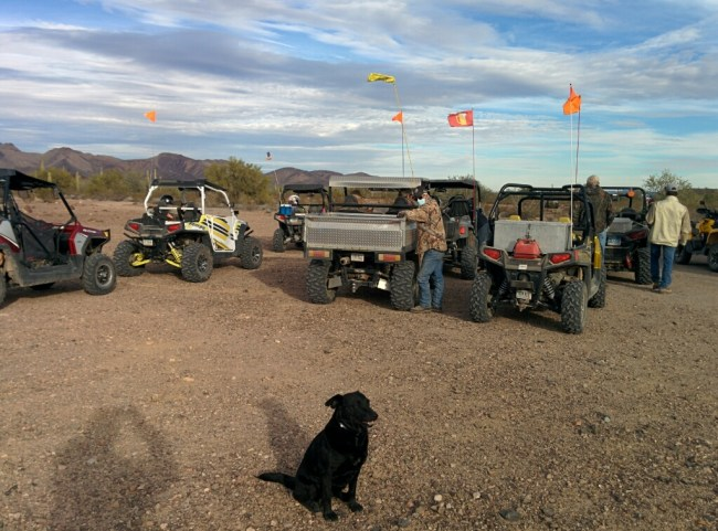 A bunch of ATVs suddenly appear
