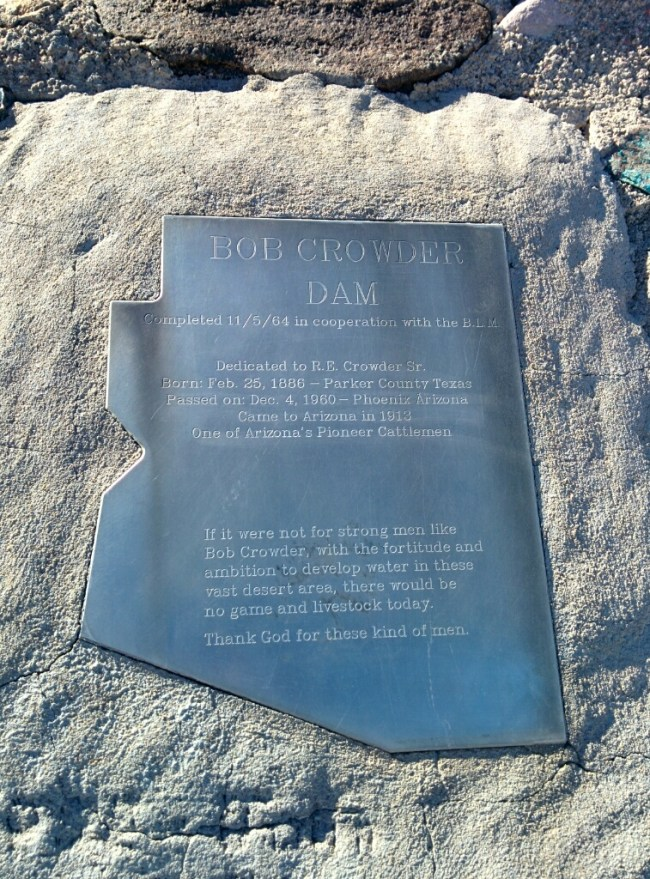 Close up of the marker's plaque