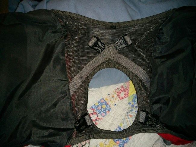 Underside of the Saddlebag Portion Showing the Four Attachment Clips