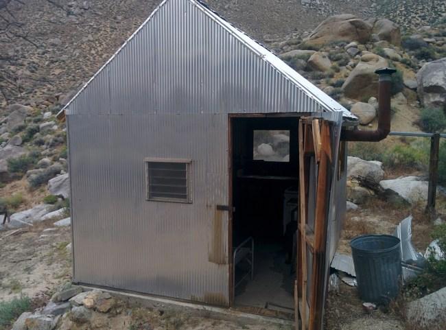 Exterior of Emmett's Cabin