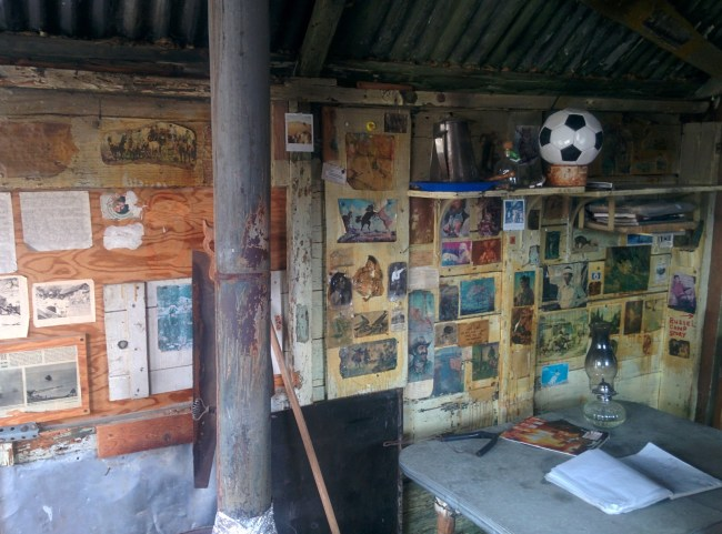 Wall Covered With Old Pictures