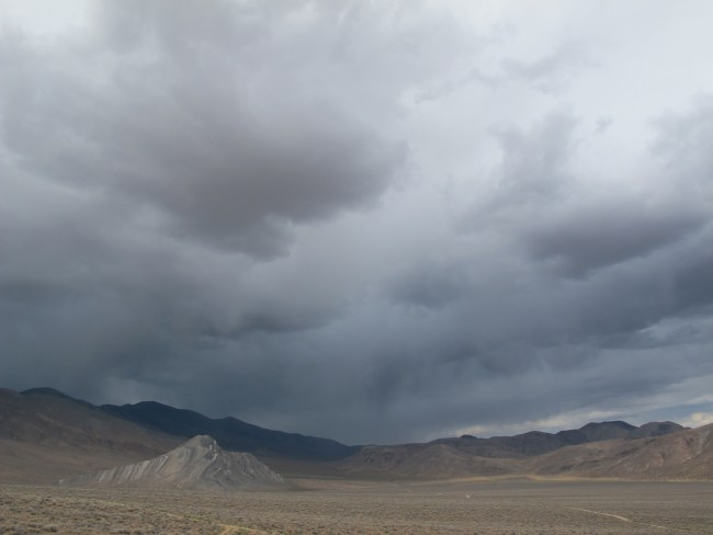 storm clouds on the other side of the valley