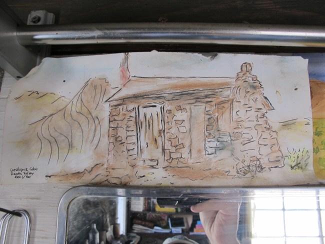 Original Watercolor Artwork By A Previous Visitor