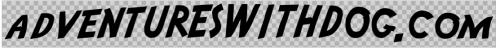 the new adventureswithdog.com text vinyl sticker, adventure font