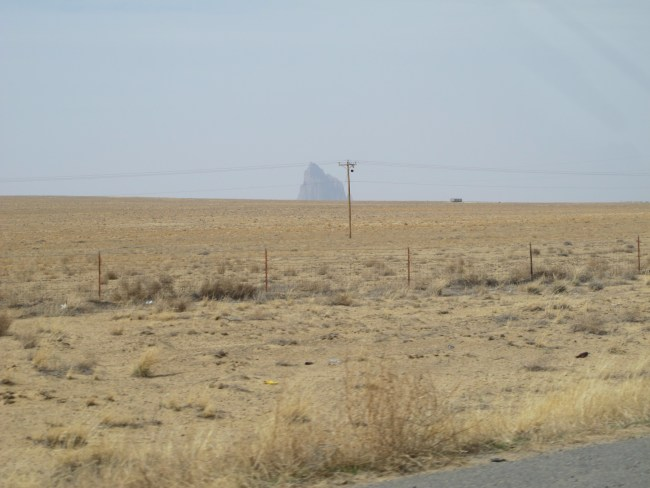 Shiprock from far off