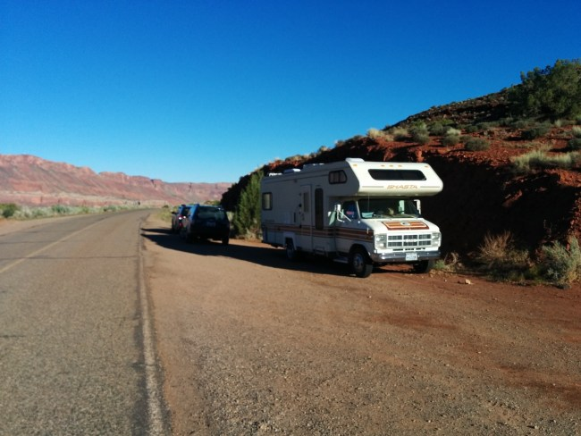 Overflow Parking And Camping On The Main Road