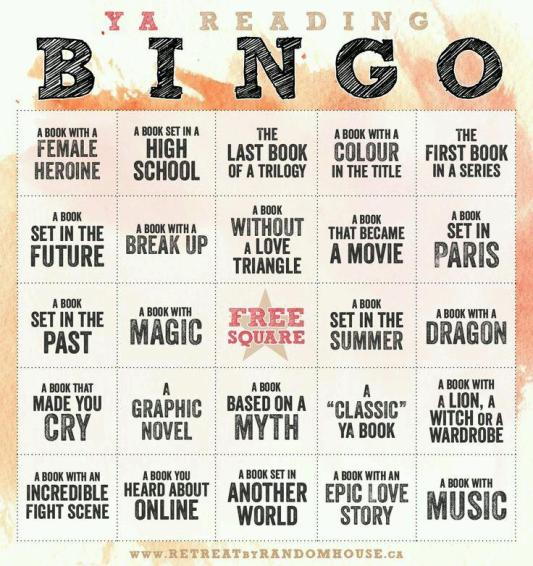 Random House YA Reading Bingo