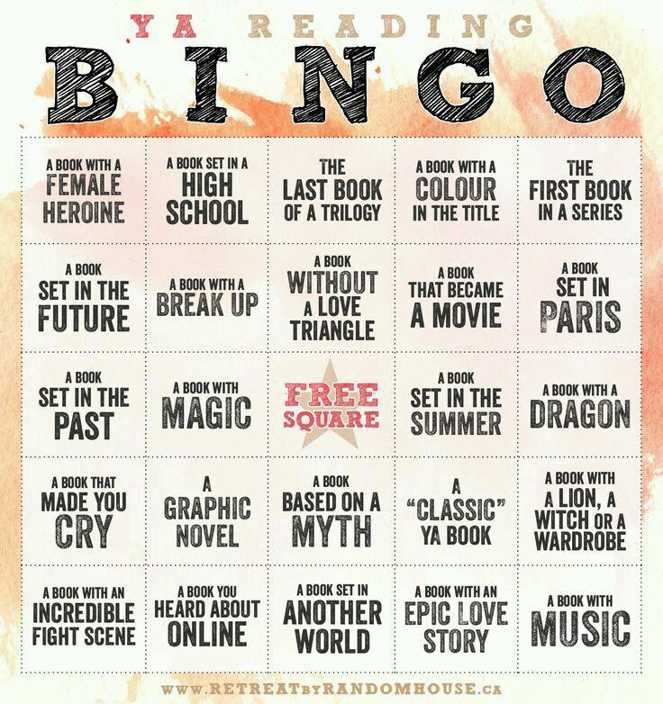 Random House YA Reading Bingo