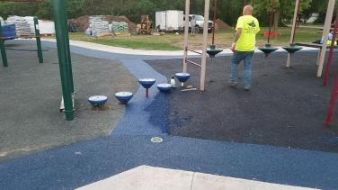Allouez Wisconsin | Poured in Place Playground Expansion | adventureTURF