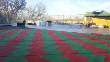 Rooftop Rubber Mat Playground Safety Surface Installers | adventureTURF | New York City