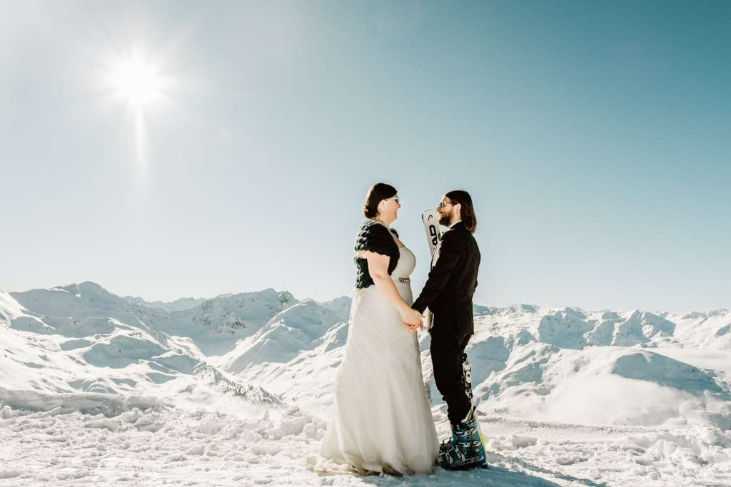 A winter wedding in Axamer Lizum Austria by Wild Connections Photography