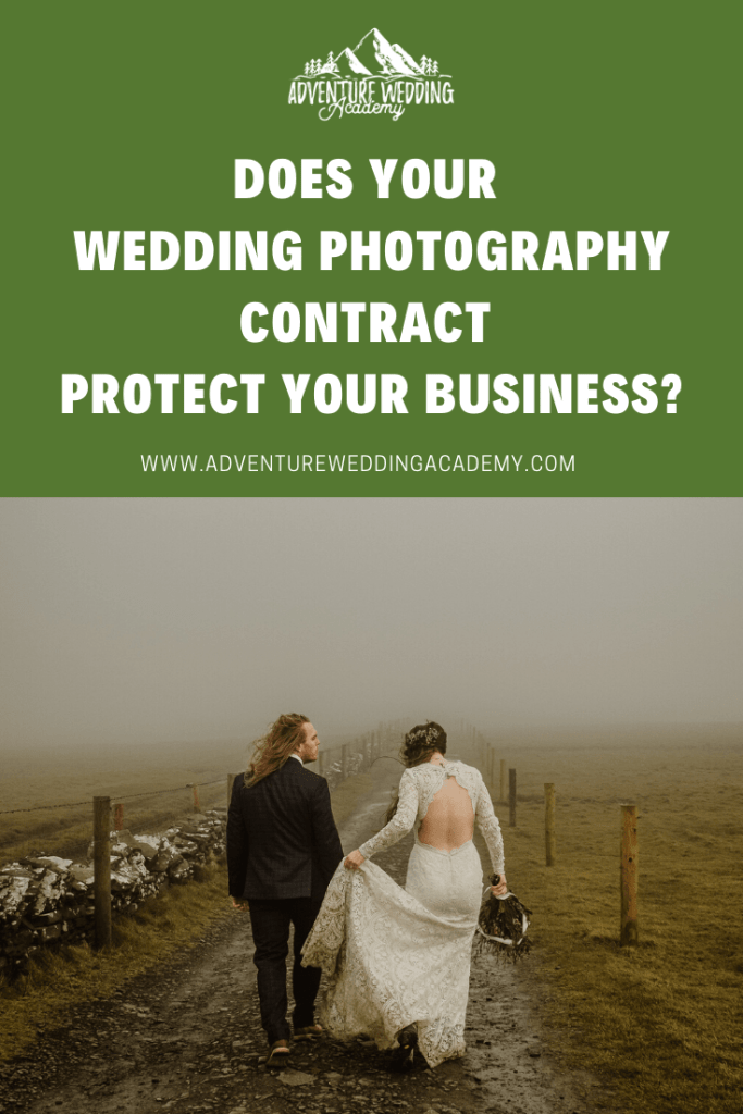 Adventure wedding photography contracts blog post