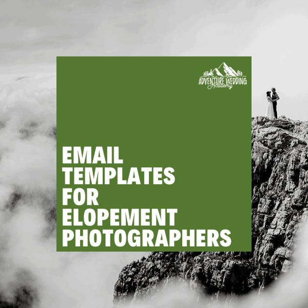 email templates for elopement photographers