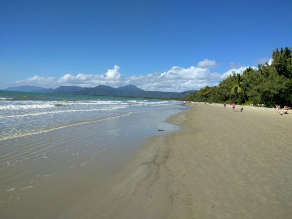 The beach in Port Douglas