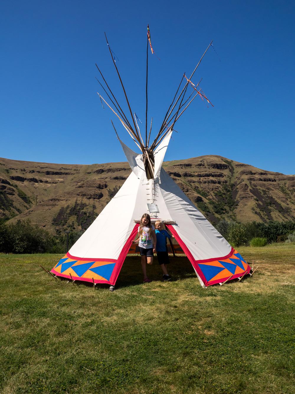 Nez Perce National Historical Park teepee. www.adventuringbeyond.com