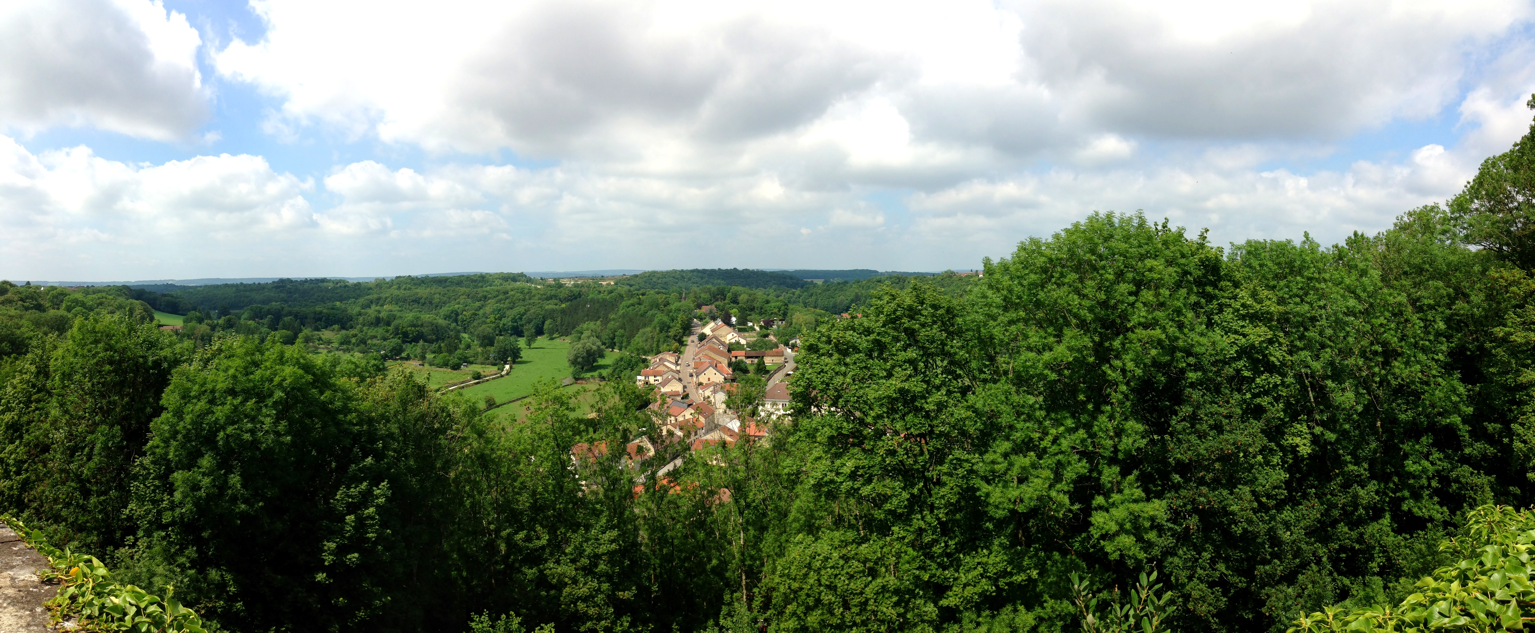 Views Over Downtown Chaumont from Chaumont Centre Ville