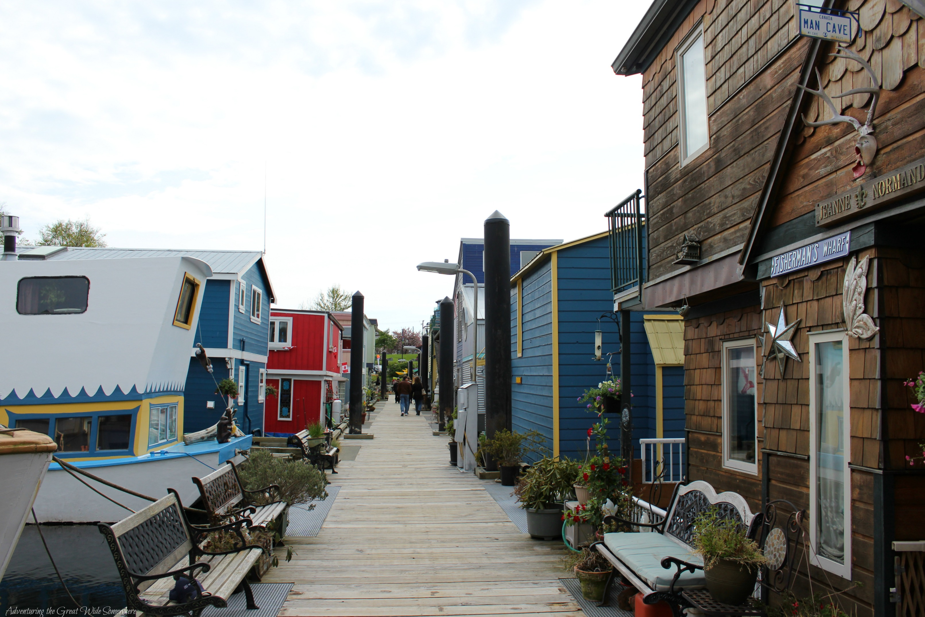 Eclectic Homes Along Fisherman's Wharf in Victoria B.C.