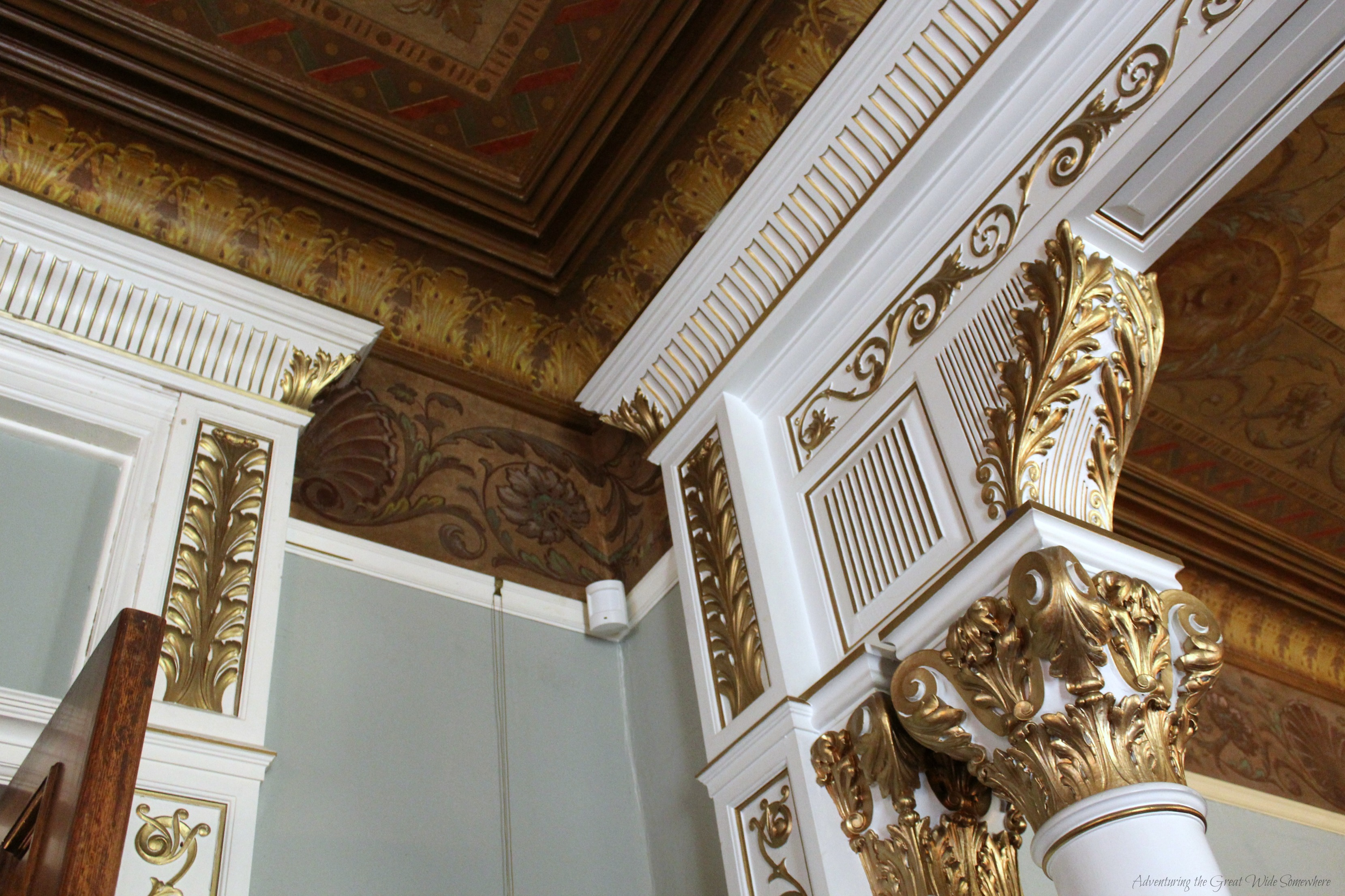 Gorgeous Ceiling Detail in the Dunsmuirs Sitting Room