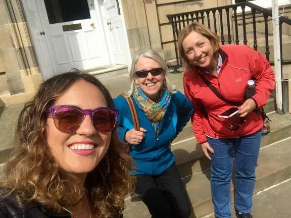 Kate, Sandra and Mom in Edinburgh