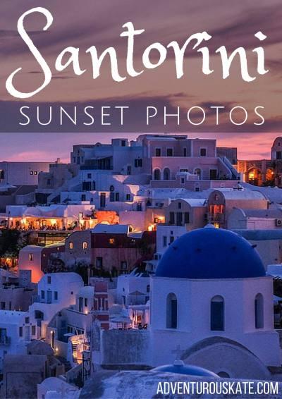 Santorini Sunset Photos