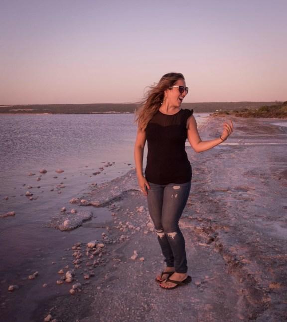 Kate at Hutt Lagoon Pink Lake, Western Australia