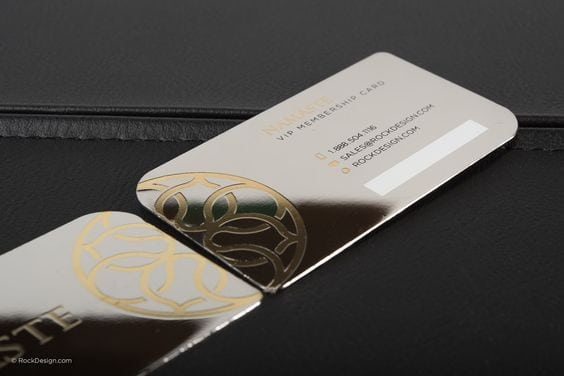 25 impressive metal business cards for inspiration metal business cards inspiration luxury minimalist reheart Images