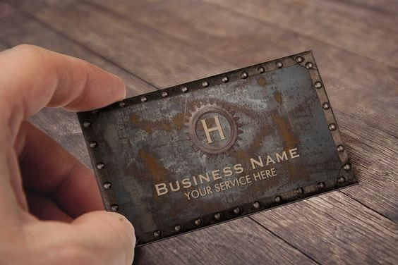 metal business cards inspiration vintage