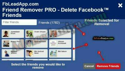 All facebook friend ko unfriend kaise kare