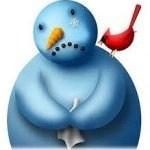 sad snowman graphic