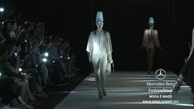 Video from Berlin Fashion Week: blue lips, wobbly walks, showgirl sequins and dunce caps!  #fashion @Berlin