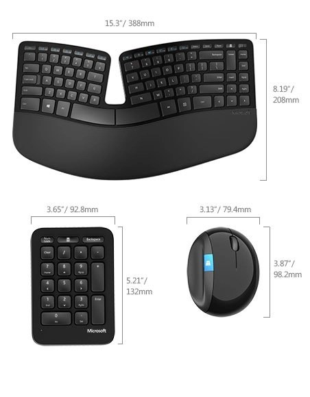microsoft hardware sculpt ergonomic desktop keyboard