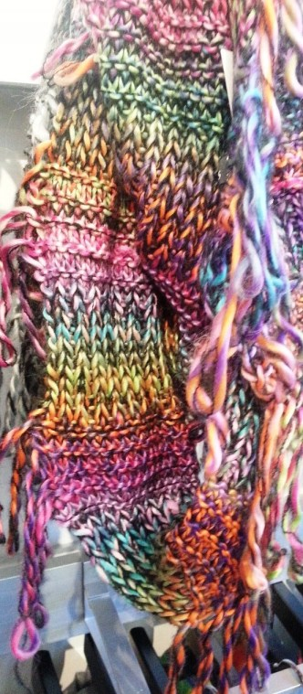 fraas fringed knitted scarf