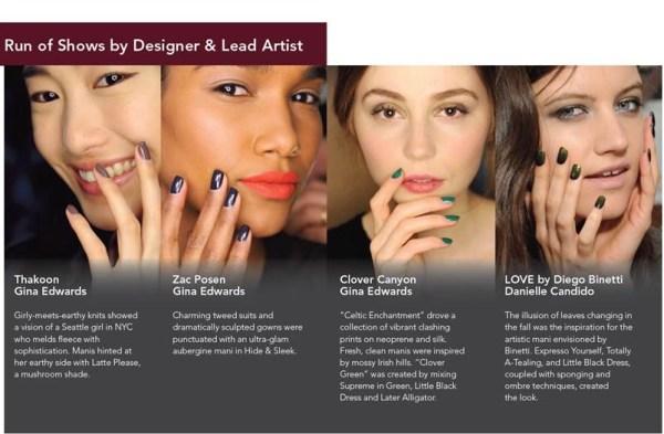 Morgan Taylor's Nail Trends from the Runway To Your Fingertips @MTMorganTaylor #NailArt #NYFW