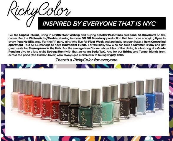Rickys NYC Color My World @Rickys_NYC   #RickyColor
