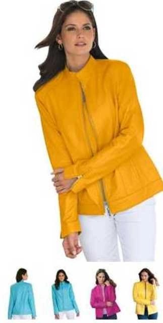 jl leather jacket yellow