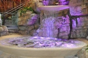 waterfall at mount airy lobby