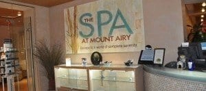 spa entrance at mount airy casino