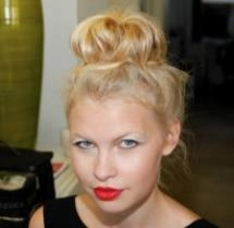 Topknots are HOT! Get the Look: Backstage at Yoana Baraschi   @RuskHaircare #MBFWSS15