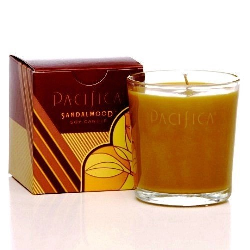 pacifica soy candle in Sandalwood