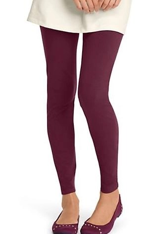 hanes cotton leggings maroon